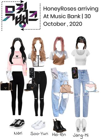 HoneyRoses(허니 로세 ) Arrived at Music Bank | October 30, 2020