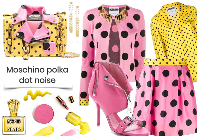 Moschino polka dot earings
