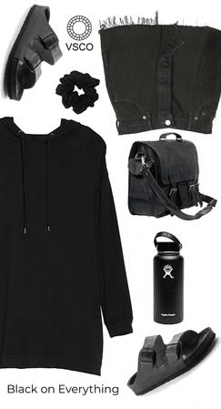 Black on Everything VSCO Girl