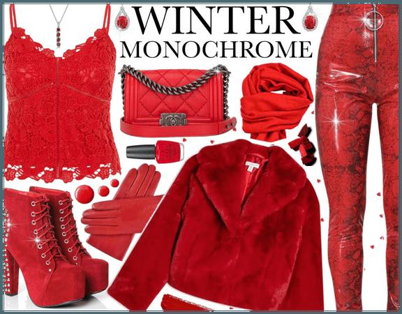 Winter Monochrome: RED