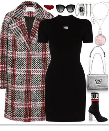 stunning & chic outfit with silver jewelry