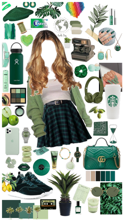 green inspo outfit