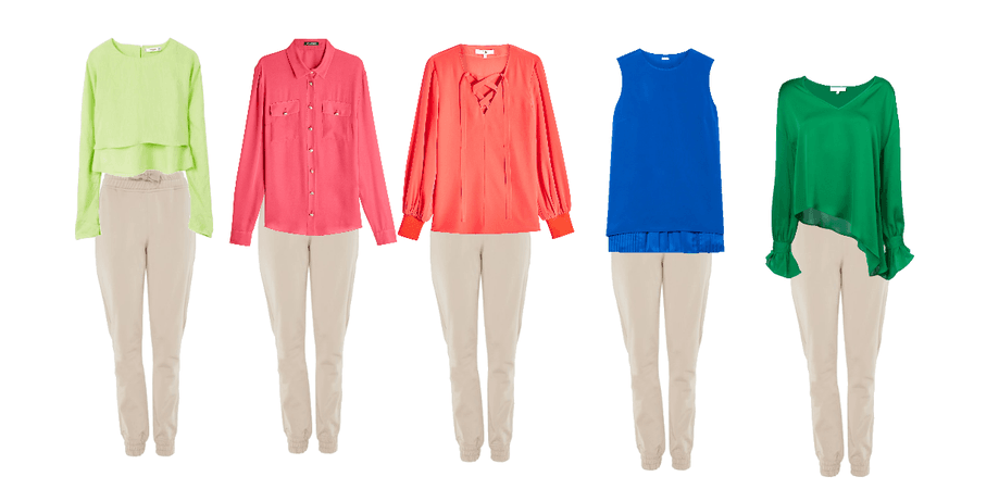 Bright Spring Blouses with Neutrap Pants