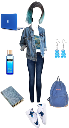 Blue School Outfit