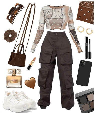 Brown Bandanna Outfit