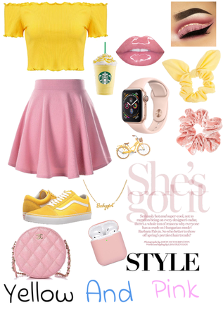 Yellow and Pink color combo