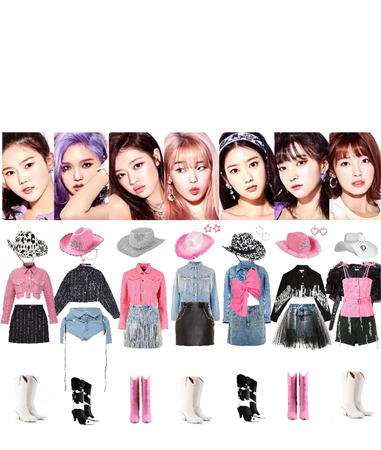 OH MY GIRL nonstop stage outfits