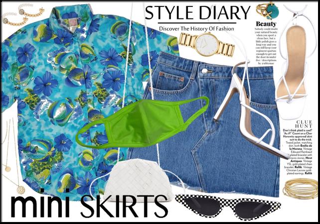 Mini Skirt & Heels: RiRi Style