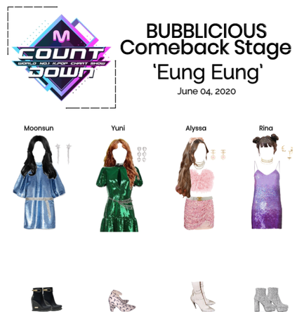 BUBBLICIOUS (버블 리우스) Comeback Stage: 'Eung Eung'