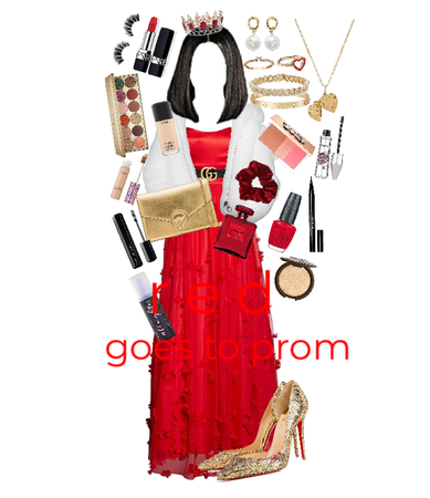 red: goes to prom