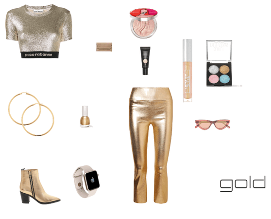 gold outfit