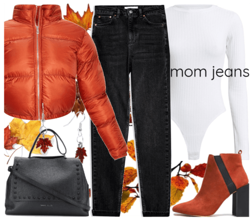 How to style mom jeans during fall