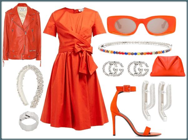 Orange and silver