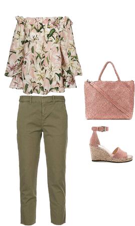 Outfit escote paisana