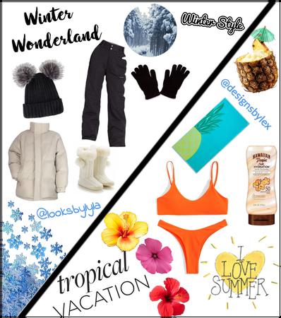 Winter wonderland x tropical summer
