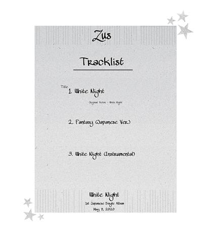 Zus//'White Night' Japanese Single Album Tracklist
