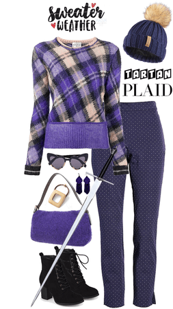 Scottish Tartan Plaid Sweater