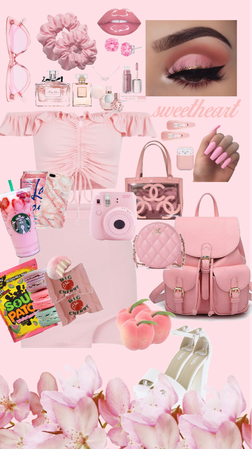 pink classy girly outfit