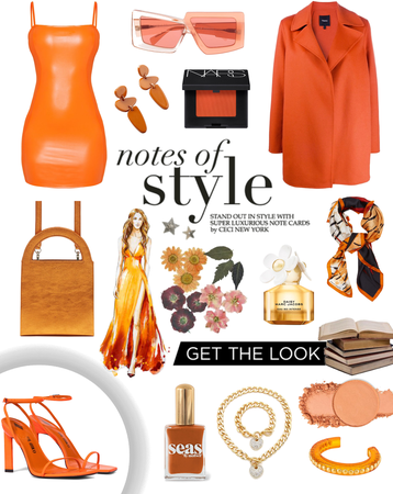orange outfit