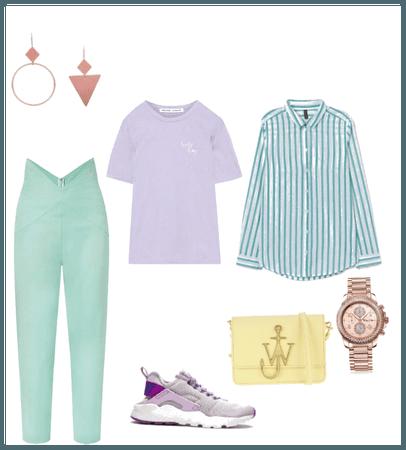 Mix pastel scheme casual