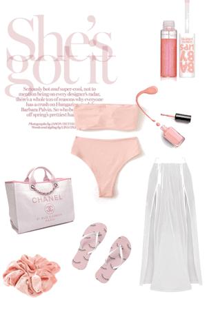 pink besch outfit