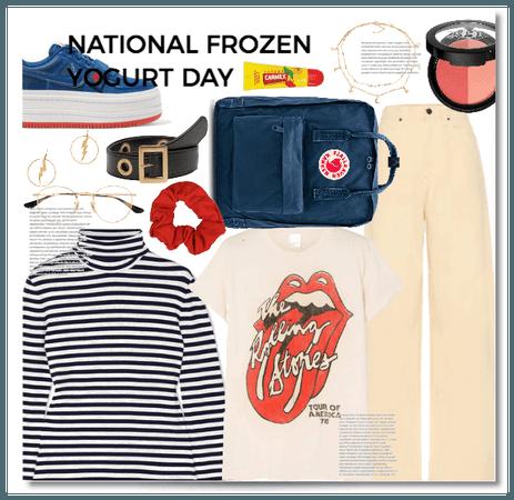 """Ntional frozen yogurt day"""