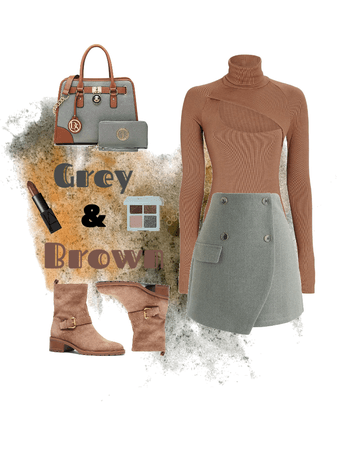 Grey & Brown