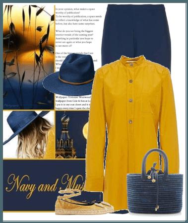 navy and mustard
