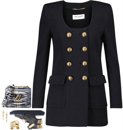 navy night and gold