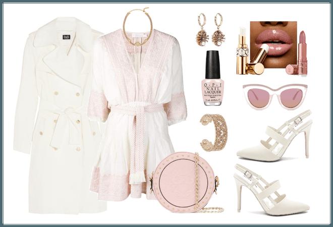 Winter White & Pale Pink