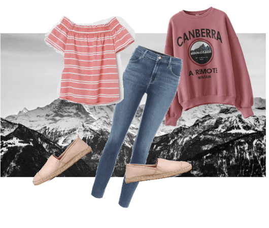 shades of pink/mountains