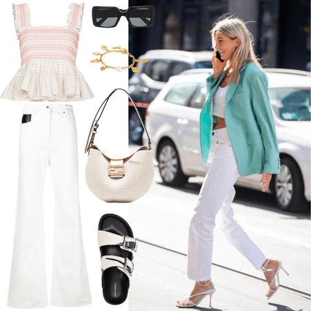White jeans for weekend