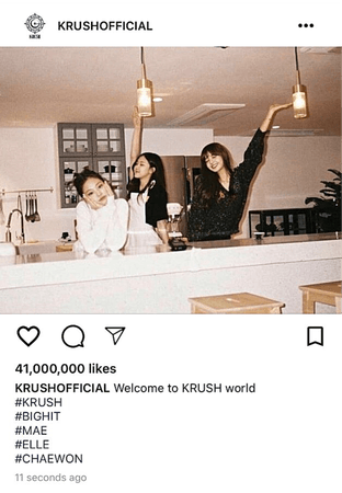 KRUSH Instagram Post: Mae, Elle, & Chaewon