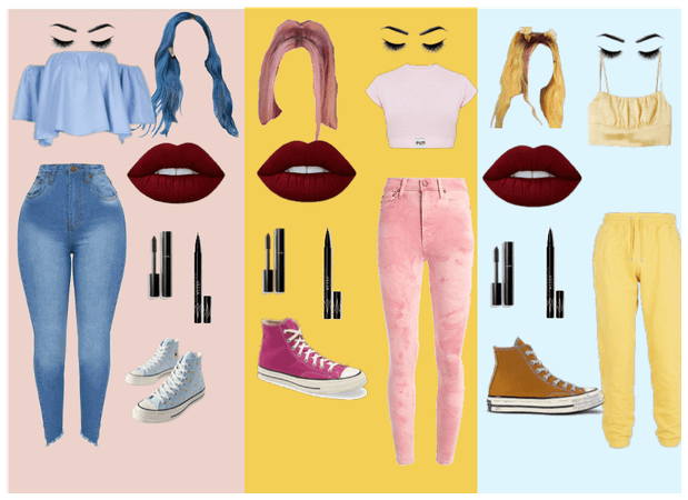 Pink , Yellow , Blue challenge