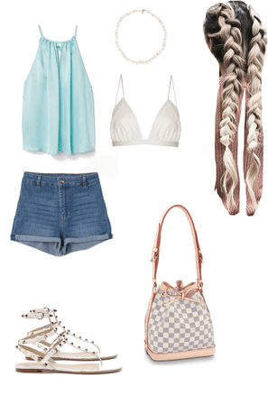 blue tank summer outfit