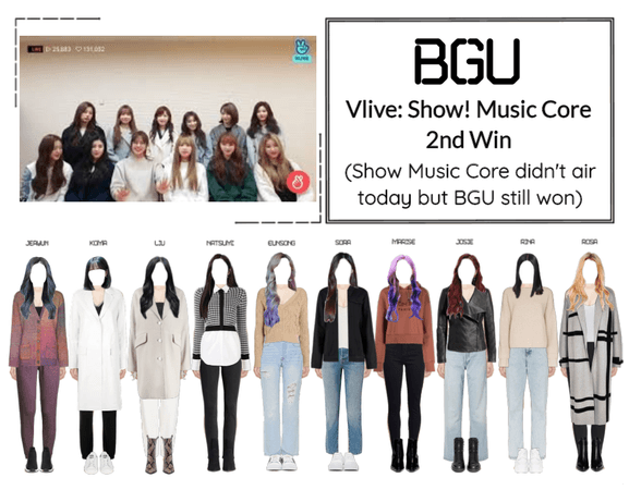 BGU Vlive: Show! Music Core 2nd Win