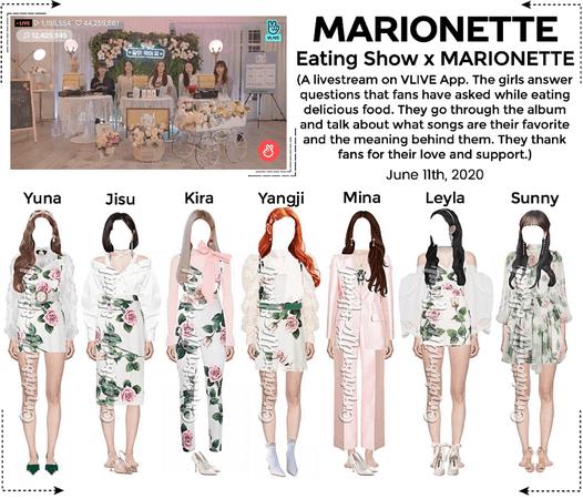MARIONETTE (마리오네트) Eating Show x MARIONETTE on VApp Livestream
