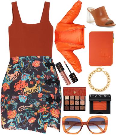 floral orange!☄️💥🔥🌸🌷💐🌺