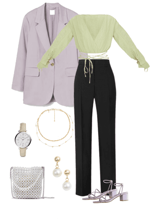 Romantic style outfit