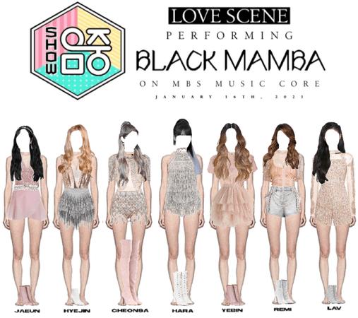 LOVE SCENE   20210116 MBC MUSIC CORE STAGE   'BLACK MAMBA'