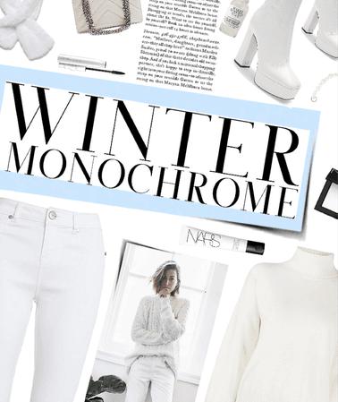 winter wonderland monochrome