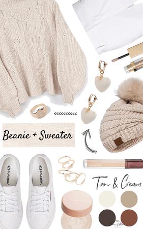 beanie + sweater