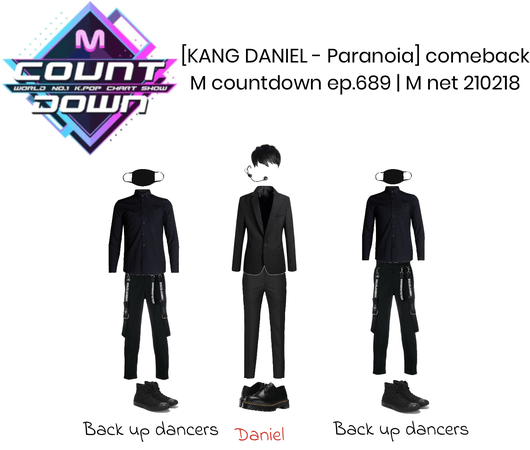 Daniel performance outfits for M Countdown | February 18, 2021