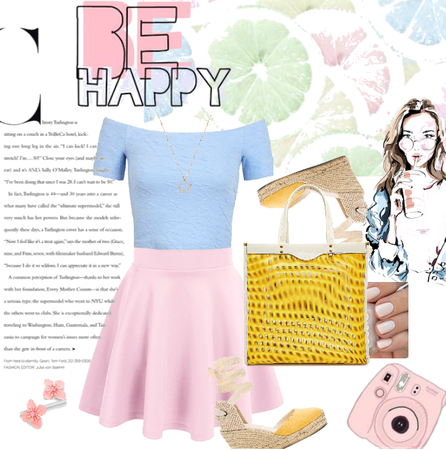 Happy in pastel