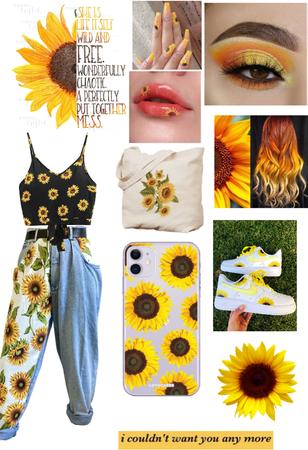 summer sunflower outfit