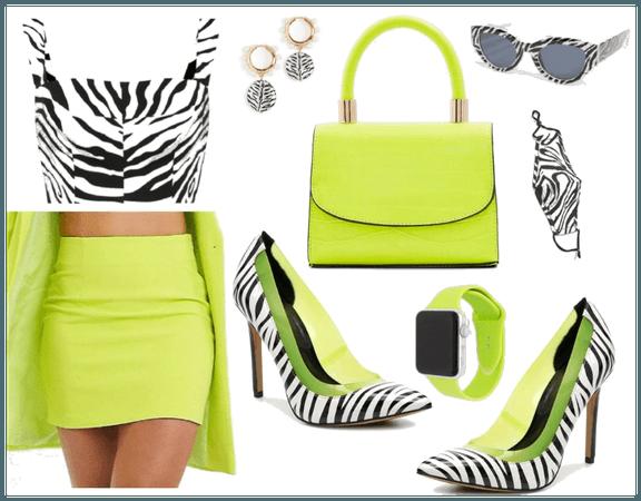 lime mini skirt