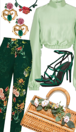 Green & Roses