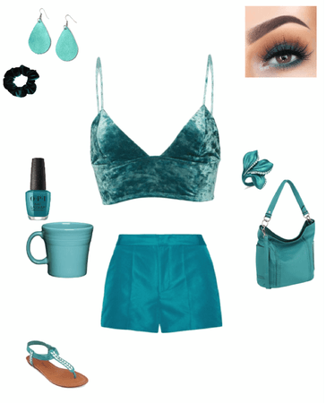 Teal monochromatic color scheme