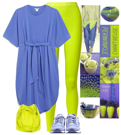 periwinkle and chartreuse