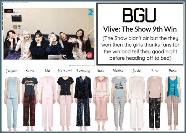 BGU Vlive: The Show 9th Win